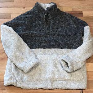 Super soft half zip teddy bear fleece